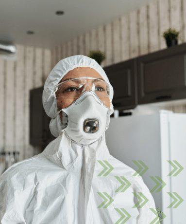 woman in hazmat suit| Hazardous Material Removal 101